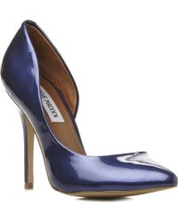 Steve Madden Gayyle Metallic Court Shoes Bluesynthetic Patent - Lyst