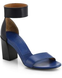 Chloé Gala Leather Ankle-strap Sandals - Lyst
