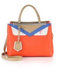 see by chloe bags shop online - fendi 2jours small monster face satchel, cheap fendi handbags