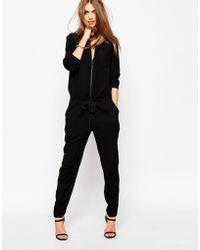 ELEVEN PARIS Jumpsuit With Drawstring - Black