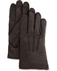 UGG - Mens Leather Smart Gloves - Lyst