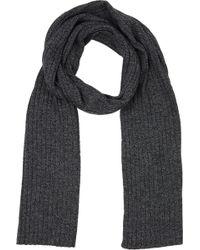 Barneys New York Marled Rib-knit Scarf - Lyst