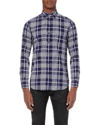 Diesel S-Zoeno Checked Cotton Shirt - For Men blue - Lyst