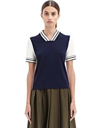 Vionnet New Season - Womens Techno Two-Tone Short Sleeved Top - Lyst