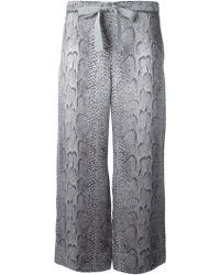 Nina Ricci Snakeskin Print Trousers - Lyst