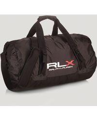 Ralph Lauren Polo Rlx Lightweight Packable Duffel Bag - Black