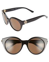 Tory Burch | 52mm Retro Sunglasses - Dark Tortoise | Lyst