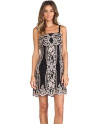 Anna Sui Two Tone Eyelash Lace Strapless Dress - Lyst