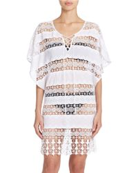 Amita Naithani - Crocheted Poncho Swim Cover Up - Lyst