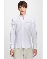 Officine Generale Trim Fit Cotton Oxford Shirt - Lyst