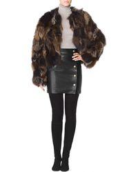 Tamara Mellon Mixed Fox Fur Jacket - Lyst