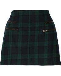 W118 By Walter Baker Samara Plaid Wool-blend Mini Skirt - Lyst