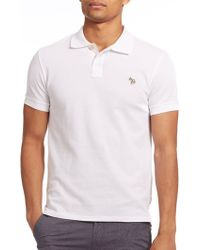 Paul Smith Regular-Fit Cotton Polo white - Lyst