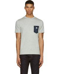 Diesel Grey Denim Pocket T_elicio T_shirt - Lyst