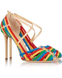 Charlotte Olympia Mariachi Leather and Suede Pumps - Lyst