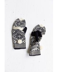 Urban Outfitters Geo Knit Convertible Glove - Black