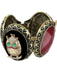 Betsey Johnson Woodland Cs Owl Fox Oval Link Bracelet - Lyst