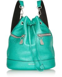 House Of Holland The Bucket Metallic Texturedleather Backpack - Lyst