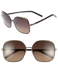 Chloé 'nerine' 58mm Sunglasses - Bronze/ Brown - Metallic