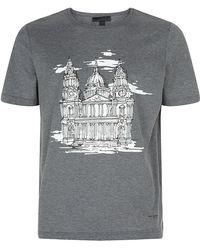 Burberry Prorsum London Landmark Tshirt - Lyst
