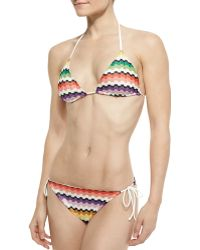 Missoni Mare Honeycomb Zigzag String Bikini - Lyst