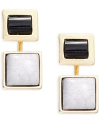 Catherine Stein | Double Square Drop Earrings | Lyst