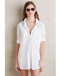 Subtle Luxury - Embroidered Button-front Tunic - Lyst