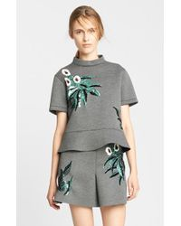 Marni Sequin Embroidered Bonded Jersey Top - Lyst