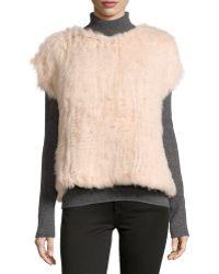 525 America - Cap-sleeve Rabbit-fur Sweatshirt - Lyst