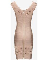 Hervé Léger Studded Bandage Dress Blush - Lyst