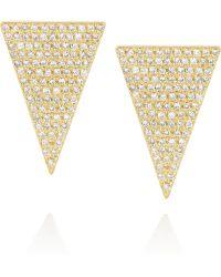 Jennifer Meyer 18karat Gold Diamond Earrings - Lyst