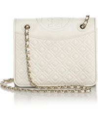 Tory Burch Fleming Patent Saffiano Leather Shoulder Bag - Lyst
