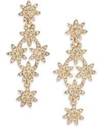 Oscar de la Renta | Floral Crystal Drop Earrings | Lyst