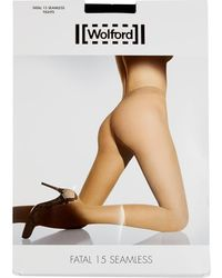 Wolford Fatal 15 Denier Seamless Tights - Lyst