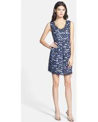 Shoshanna 'Sierra' Floral Lace Dress blue - Lyst