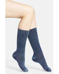 Ralph Lauren Women'S Distressed Crew Socks - Lyst