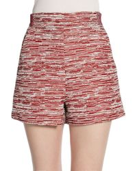 Proenza Schouler High-waisted Slub Tweed Shorts - Lyst