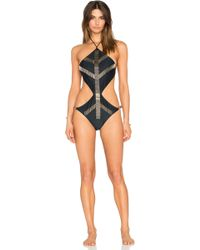 My Own Summer Punta Del Diablo Embellished Monokini - Metallic