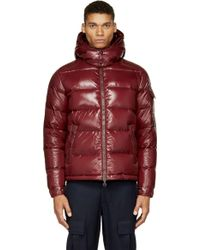 Moncler Burgundy Quilted Down Maya Jacket - Lyst