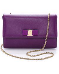 Ferragamo Ginny Shoulder Bag - Grape - Lyst