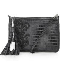 Topshop Womens Floral Tassel Crossbody Bag  Black - Lyst