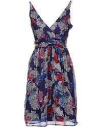 Vero Moda Short Dress blue - Lyst