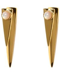 Lizzie Fortunato Pyramid Pearl Earrings - Lyst