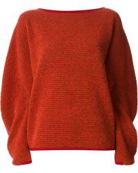 Issey Miyake Oversized Sweater - Lyst