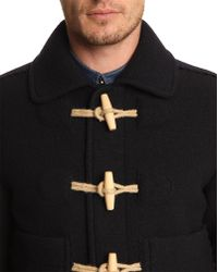 Carven Navy Duffle Coat-Style Jacket - Lyst