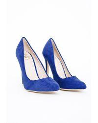 Missguided Isabel Pointed Stiletto Court Heels Cobalt Blue - Lyst