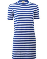 Michael Kors Striped Knit T-Shirt Dress - Lyst