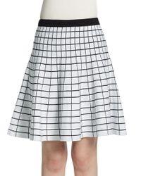 Saks Fifth Avenue Black Label - Grid Jacquard Skater Skirt - Lyst