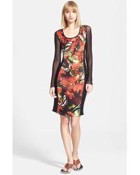 Jean Paul Gaultier Print Mixed Media Dress - Lyst