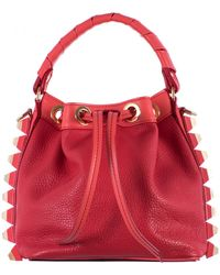 "Salar Hammered Red Leather ""Tala"" Mini Bag - Lyst"